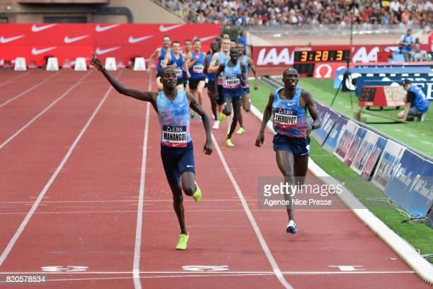 Elijah Manangoi of Kenya Men's 1500 m during the IAAF Diamond League Meeting Herculis on July 21 2017 in Monaco Monaco