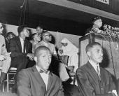 Elijah Muhammad giving speech Cassius Clay 1964