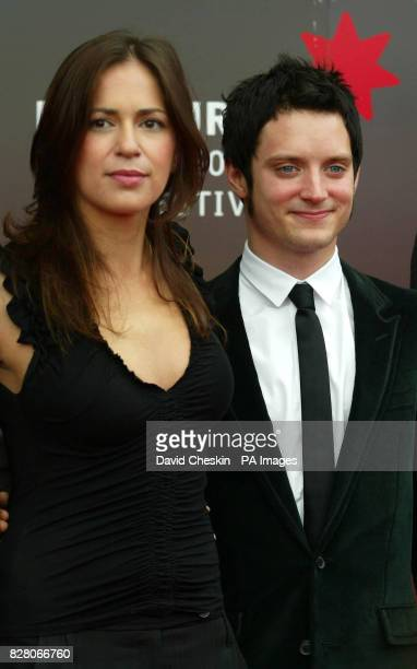 Elijah Wood and director Lexi Alexander arrive for the gala screening of Green Street at the UGC Cinema in Edinburgh Scotland Tuesday 23 August 2005...