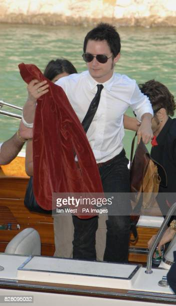 Elijah Wood arrives at the Palazzo del Casino in Venice Italy on Monday 5 September 2005 to attend the photocall for new film Everything is...