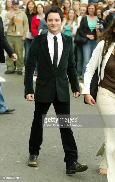 Elijah Wood arrives for the gala screening of Green Street at the UGC Cinema in Edinburgh Scotland Tuesday 23 August 2005 during the Edinburgh...