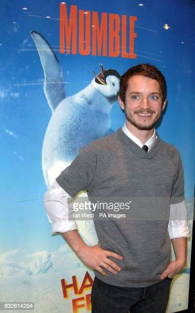 Elijah Wood arrives for the premiere of Happy Feet at the Empire Leicester Square in central London