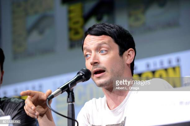 Elijah Wood at Dirk Gently's Holistic Detective Agency BBC America Official Panel during ComicCon International 2017 at San Diego Convention Center...