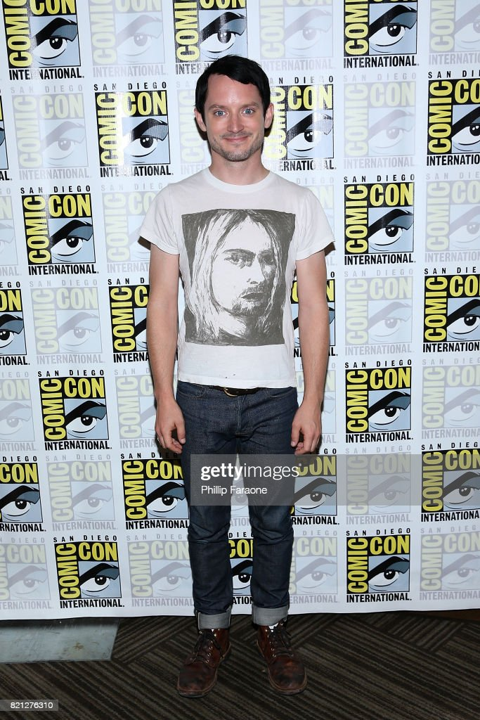 Elijah Wood attends Dirk Gently's Holistic Detective Agency press line at Comic-Con International 2017 on July 23, 2017 in San Diego, California.