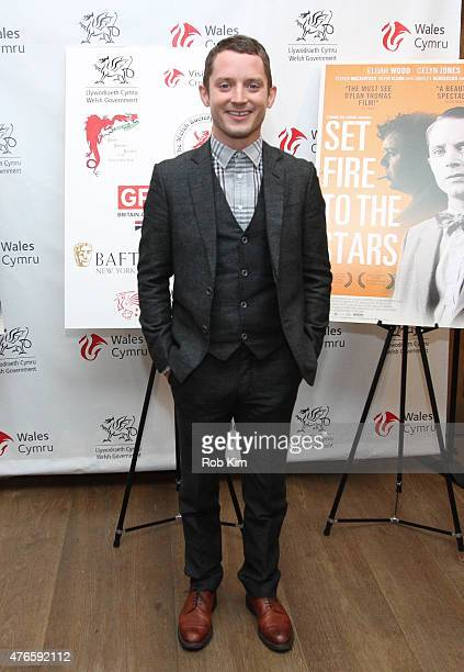 Elijah Wood attends 'Set Fire To The Stars' New York Premiere at Crosby Street Hotel on June 10 2015 in New York City