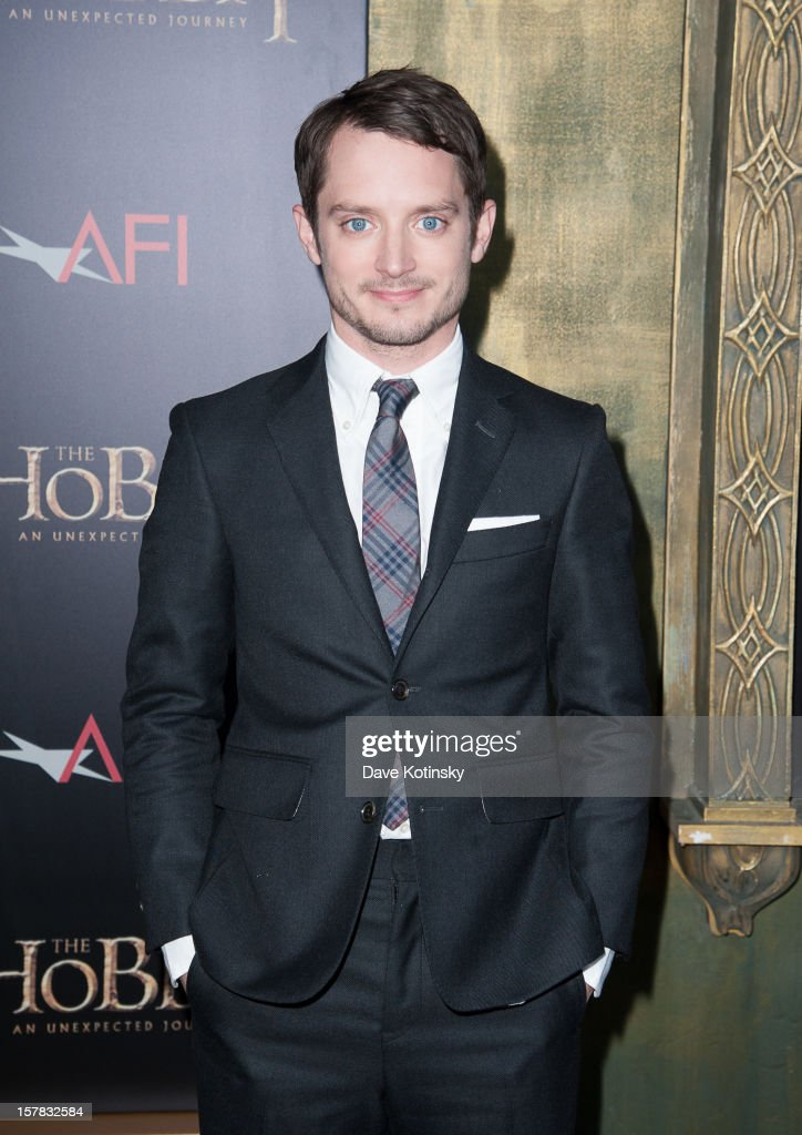 <a gi-track='captionPersonalityLinkClicked' href=/galleries/search?phrase=Elijah+Wood&family=editorial&specificpeople=171364 ng-click='$event.stopPropagation()'>Elijah Wood</a> attends 'The Hobbit: An Unexpected Journey' New York premiere benefiting AFI at Ziegfeld Theater on December 6, 2012 in New York City.