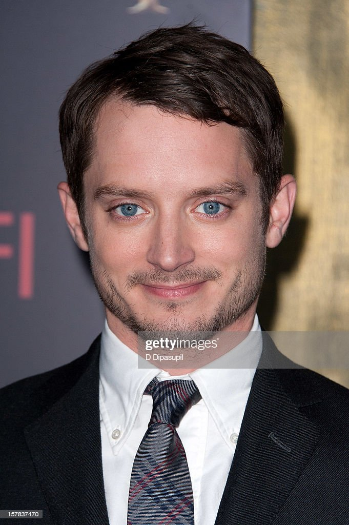 Elijah Wood attends 'The Hobbit: Unexpected Journey' premiere at the Ziegfeld Theater on December 6, 2012 in New York City.