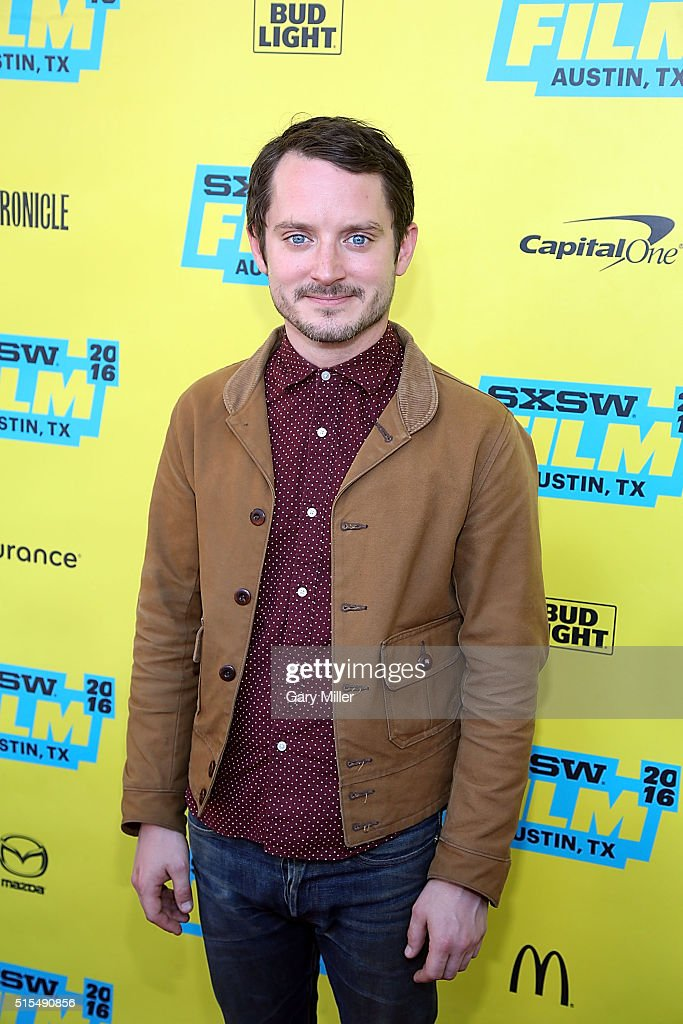 Elijah Wood attends the premiere of 'The Trust' at the Paramount Theater during the SXSW FilmInteractiveMusic festival on March 13 2016 in Austin...