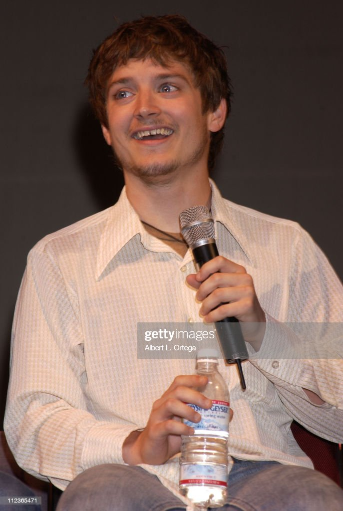 Elijah Wood during 2002 San Diego Comic Con International - Day Three at San Diego Convention Center in San Diego, California, United States.