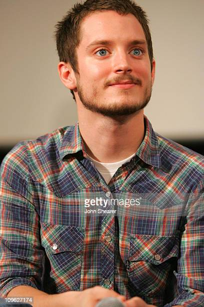 Elijah Wood during 2006 Giffoni International Children's Film Festival Press Conference and QA with Elijah Wood at Cinema Truffaut in Giffoni Italy