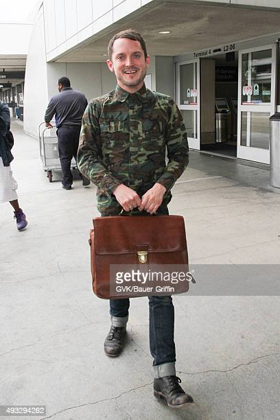 Elijah Wood is seen at LAX on October 16 2015 in Los Angeles California