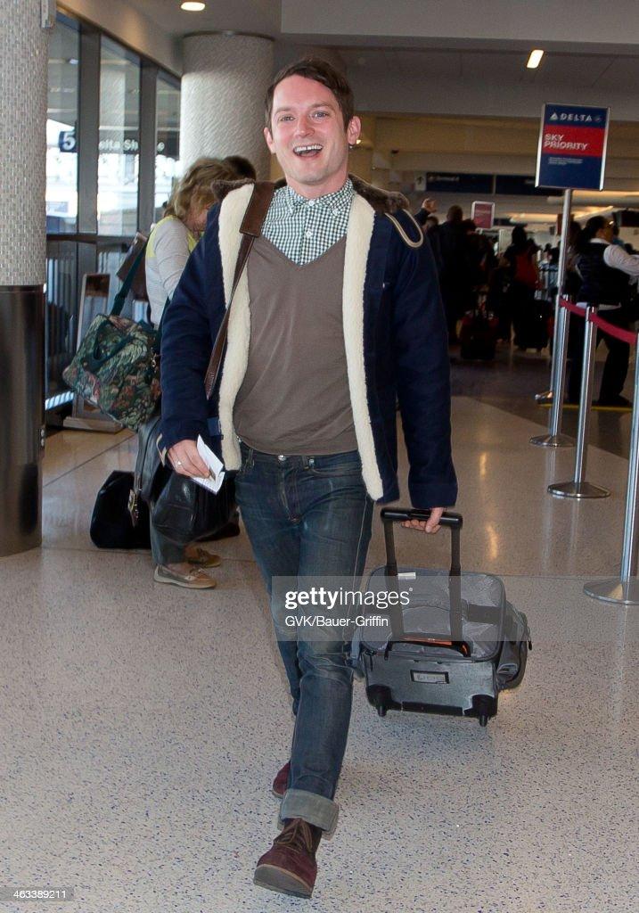 Elijah Wood is seen on January 17 2014 in Los Angeles California