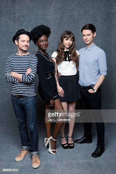 Elijah Wood Jade Eshete Hannah Marks and Samuel Barnett of 'Dirk Gently' are photographed for Los Angeles Times at San Diego Comic Con on July 22...
