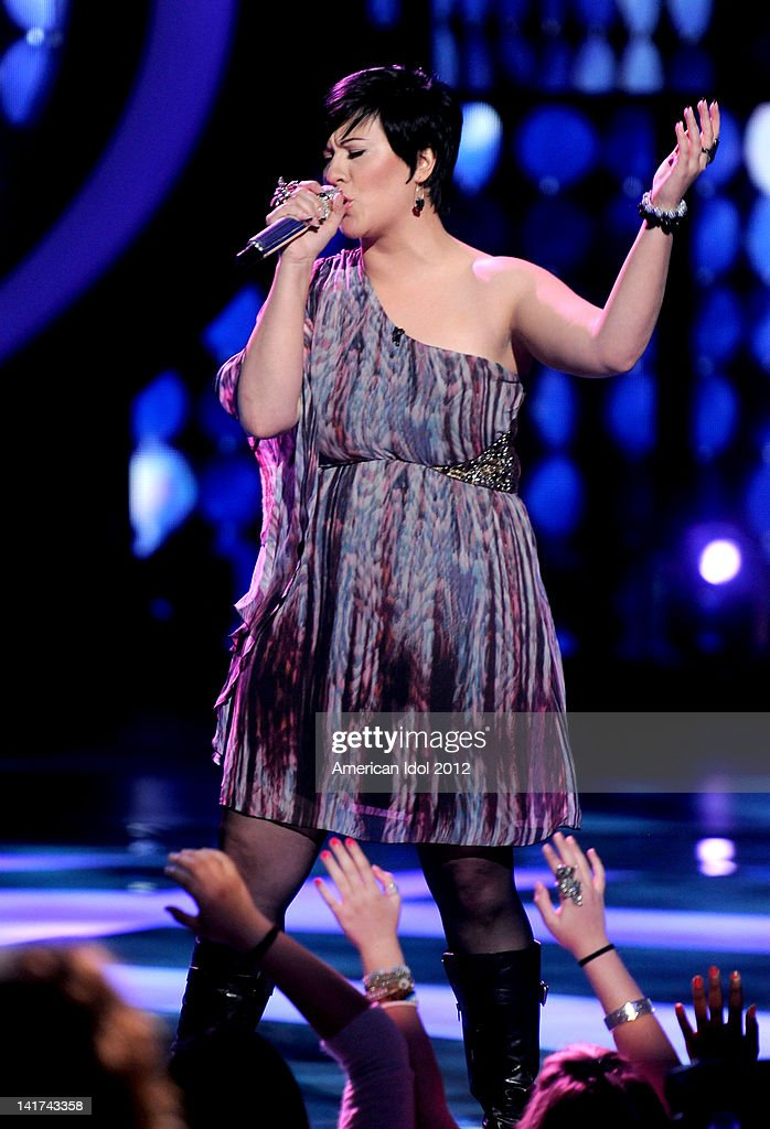 Eliminated contestant Erika Van Pelt performs onstage at FOX's 'American Idol' Season 11 Top 10 To 9 Live Elimination Show on March 22, 2012 in Hollywood, California.