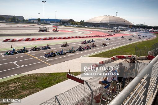Eliminatory heat in the Wsk Mini Final Cup : Stock Photo