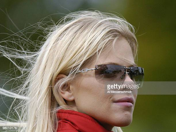 Elin Nordegren Tiger Woods' girlfriend watches fourball competition at the 2004 Ryder Cup in Detroit Michigan September 17 2004