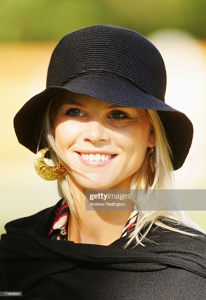 Elin Woods smiles as USA and European team wives prepare to travel to The Curragh racecourse for the Wives Race Day prior to the start of the 2006 Ryder Cup at The K Club on September 19, 2006 in Straffan, Co. Kildare, Ireland.