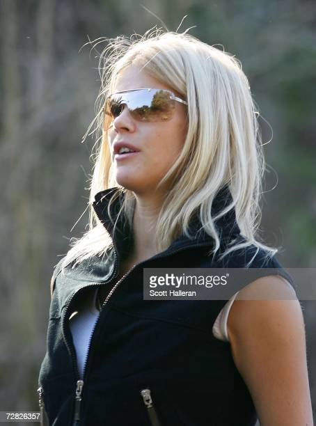 Elin Woods watches the play during the first round of the Target World Challenge at Sherwood Country Club on December 14 2006 in Thousand Oaks...
