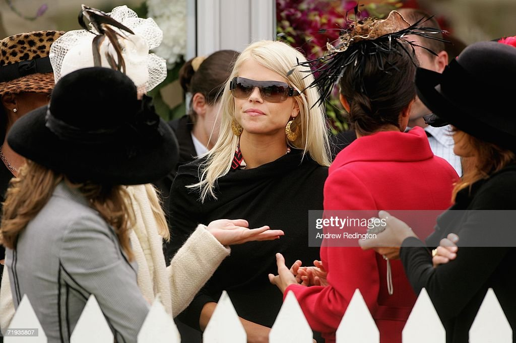 Elin Woods, wife of Tiger Woods, looks on during the Ryder Cup Wives Race Day at The Curragh racecourse on September 19, 2006 in Naas, Ireland.