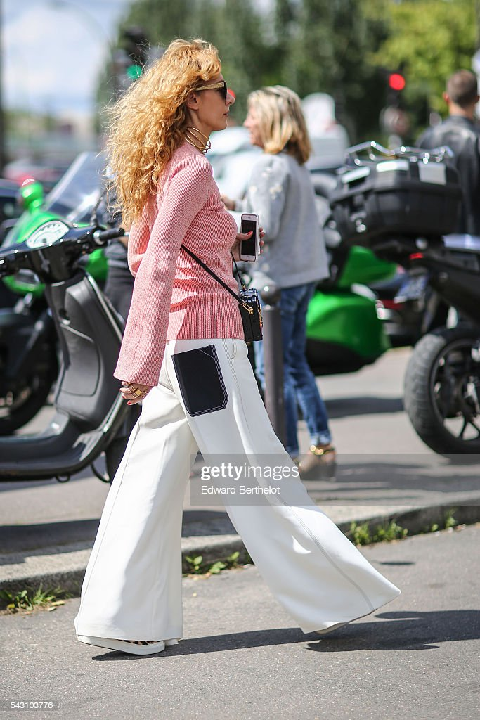 Elina Halimi is seen, after the Dior show, during Paris Fashion Week Menswear Spring/summer 2017, on June 25, 2016 in Paris, France.