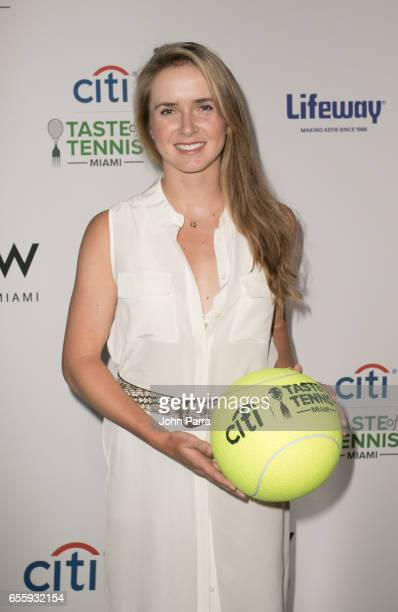 Elina Svitolina arrives at the Citi Taste Of Tennis Miami at W Hotel on March 20 2017 in Miami Florida