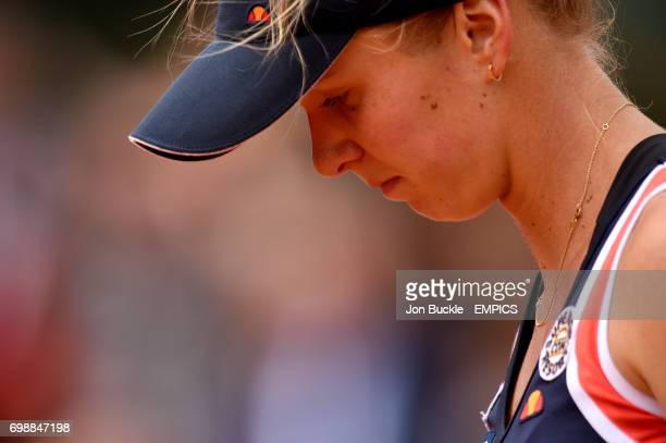 Elina Svitolina during her Women's QuaterFinal match against Ana Ivanovic on day ten of the French Open at Roland Garros on June 2 2015 in Paris...