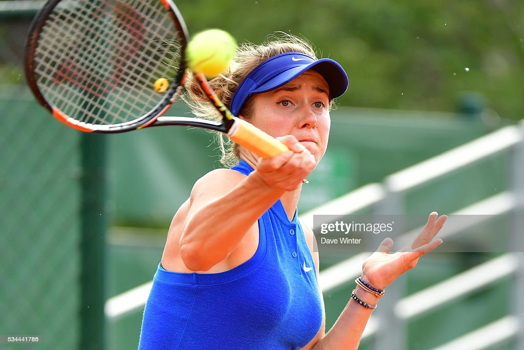 Elina Svitolina during the Women's Singles second round on day five of the French Open 2016 at Roland Garros on May 26, 2016 in Paris, France.