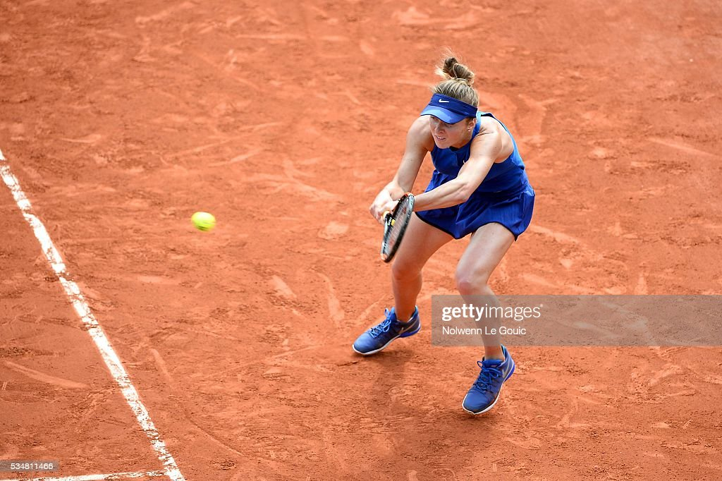 Elina Svitolina during the Women's Singles third round on day seven of the French Open 2016 on May 28, 2016 in Paris, France.