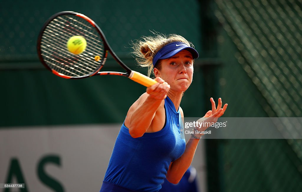 <a gi-track='captionPersonalityLinkClicked' href=/galleries/search?phrase=Elina+Svitolina&family=editorial&specificpeople=7026504 ng-click='$event.stopPropagation()'>Elina Svitolina</a> of Ukraine hits a forehand during the Ladies Singles second round match against Taylor Townsend of the United States on day five of the 2016 French Open at Roland Garros on May 26, 2016 in Paris, France.