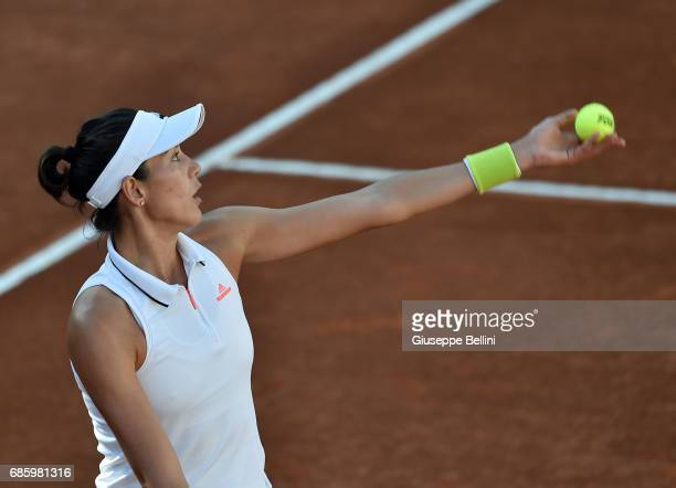 Elina Svitolina of Ukraine in action during the women's semifinal match between Garbine Muguruza of Espana and Elina Svitolina of Ukraine during The...