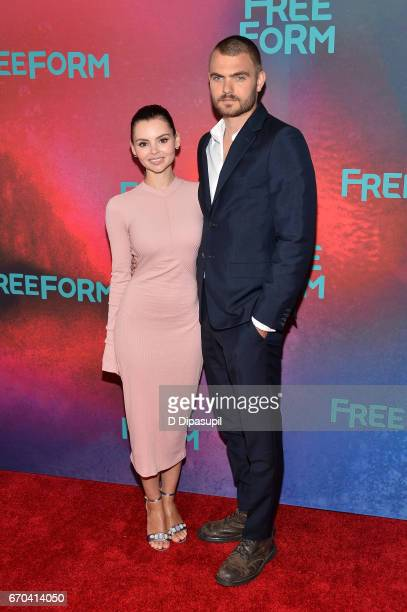 Eline Powell and Alex Roe attend the Freeform 2017 Upfront at Hudson Mercantile on April 19 2017 in New York City