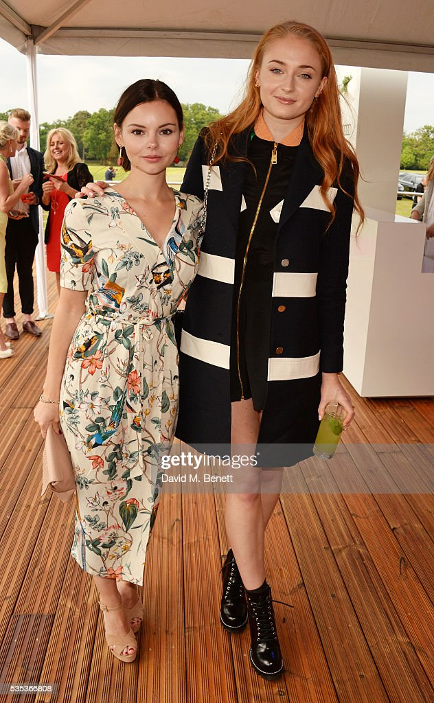 Eline Powell (L) and Sophie Turner attend day two of the Audi Polo Challenge at Coworth Park on May 29, 2016 in London, England.