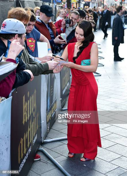 Eline Powell arriving for the King Arthur European Premiere held at the Odeon Leicester Square London