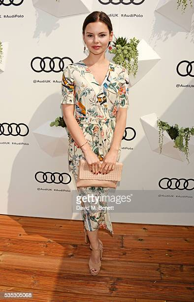 Eline Powell attends day two of the Audi Polo Challenge at Coworth Park on May 29 2016 in London England