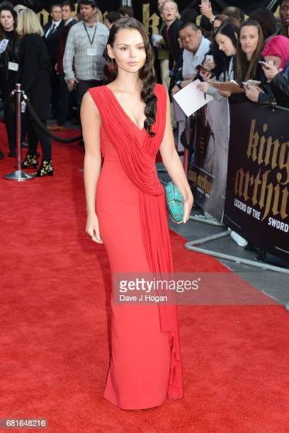 Eline Powell attends the European premiere of 'King Arthur Legend of the Sword' at Cineworld Empire on May 10 2017 in London United Kingdom