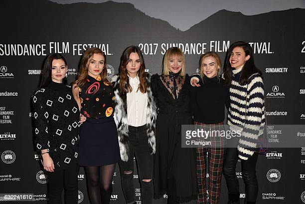 Eline Powell Morgan Saylor Liana Liberato Chelsea Lopez Maddie Hasson and Margaret Qualley attend the 'Novitate' premiere during day 2 of the 2017...