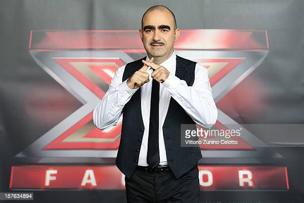 Elio attends 'X Factor' Italian TV Show press conference on December 5 2012 in Milan Italy