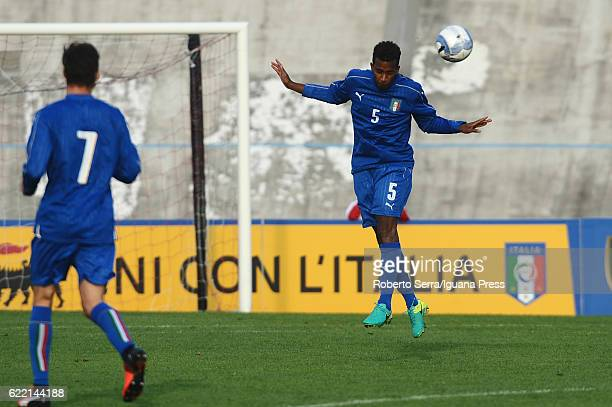 Elio Capradossi of Italy in action during the Four Nations tournament match between Italy U20 and Germany U20 on November 10 2016 in Forli Italy