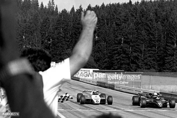 Elio de Angelis Keke Rosberg LotusFord 91 WilliamsFord FW08 Grand Prix of Austria Red Bull Ring Spielberg Austria August 15 1982 Elio de Angelis...