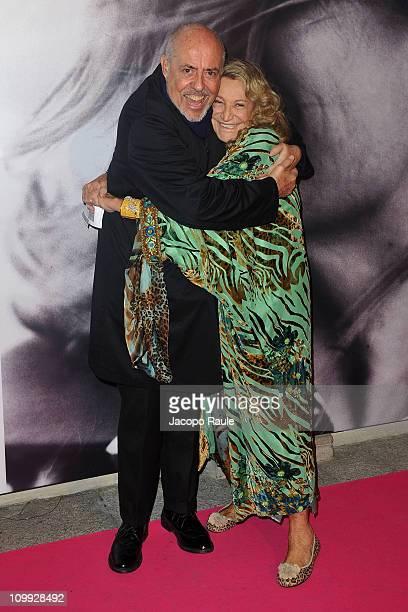 Elio Fiorucci and Marta Marzotto attend 'La Musa Inquieta Vita Arte e Miracoli di Marta Marzotto' Opening on March 10 2011 in Milan Italy