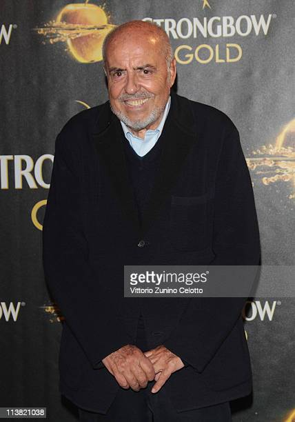 Elio Fiorucci attends 'The Gold Experience' red carpet on May 6 2011 in Milan Italy