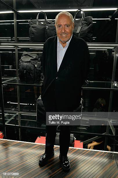 Elio Fiorucci attends the Prada cocktail party as a part of Milan Fashion Week Womenswear Spring/Summer 2014 on September 20 2013 in Milan Italy