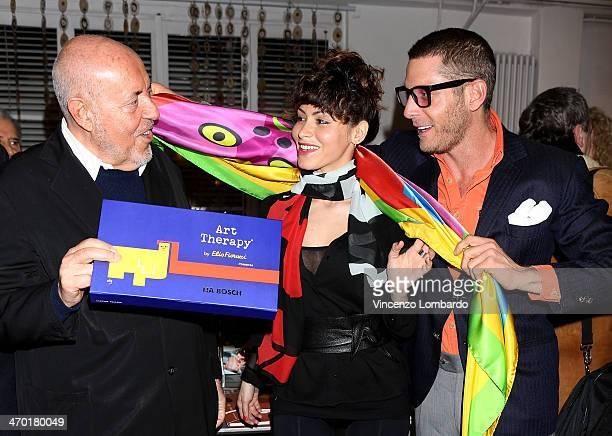 Elio Fiorucci Lia Bosch and Lapo Elkann attend the Art Therapy By Elio Fiorucci Milan Fashion Week Womenswear Autumn/Winter 2014 on February 18 2014...