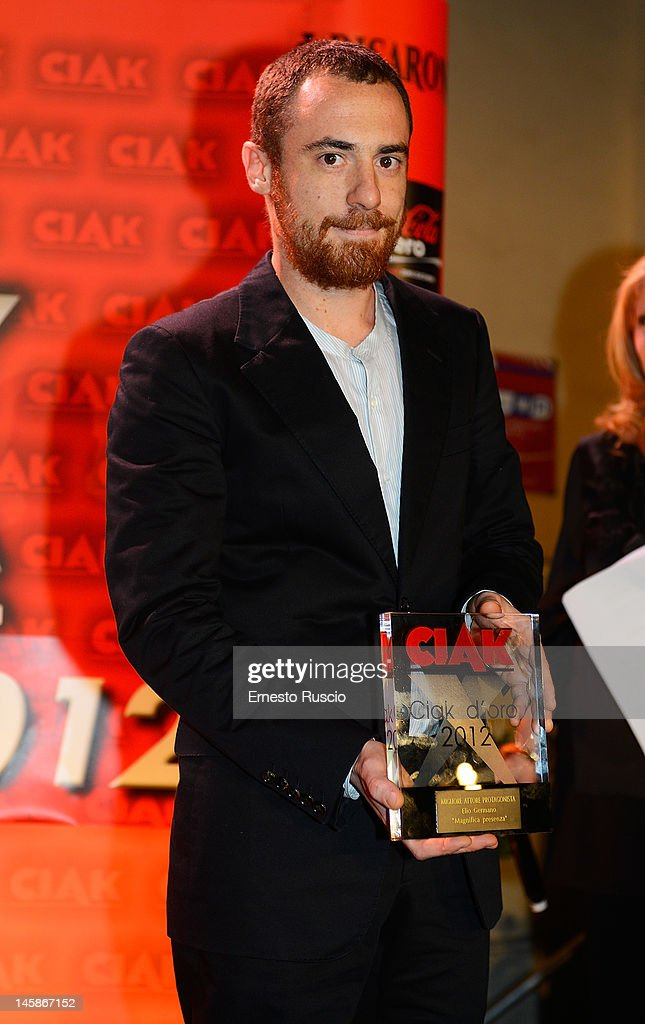 Elio Germano attends 2012 Ciak d'Oro ceremony awards at Palazzo Valentini on June 6, 2012 in Rome, Italy.