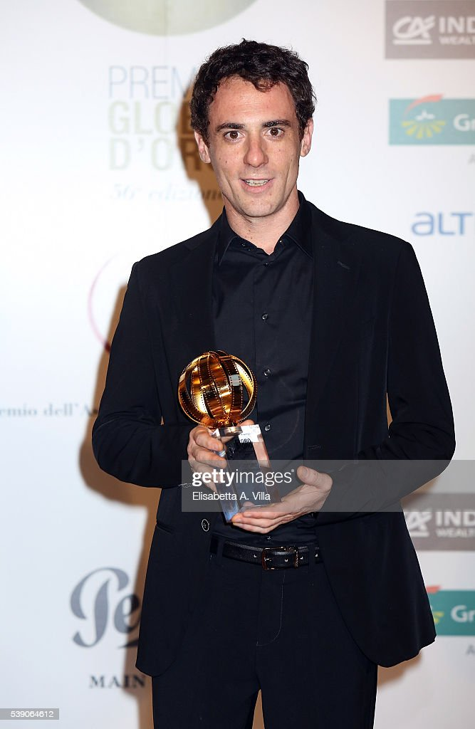 Elio Germano attends Globi D'Oro 2016 Awards Ceremony at French Embassy Palazzo Farnese on June 9, 2016 in Rome, Italy.