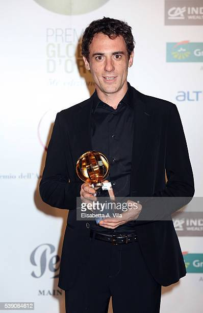 Elio Germano attends Globi D'Oro 2016 Awards Ceremony at French Embassy Palazzo Farnese on June 9 2016 in Rome Italy