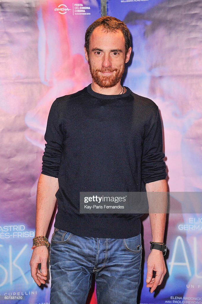 Elio Germano attends the 'Alaska' Paris Premiere on January 28, 2016 in Paris, France.