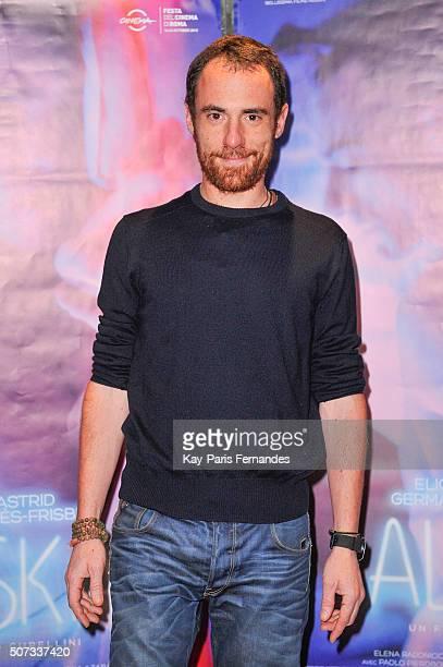 Elio Germano attends the 'Alaska' Paris Premiere on January 28 2016 in Paris France