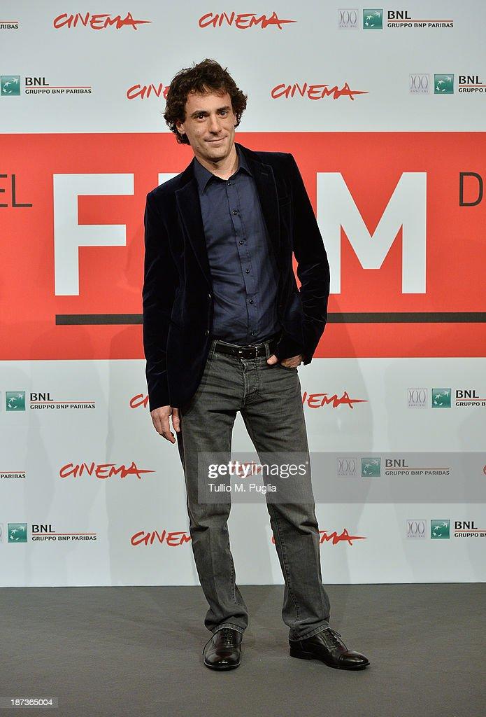 Elio Germano attends the 'L'Ultima Ruota Del Carro' Photocall during the 8th Rome Film Festival at the Auditorium Parco Della Musica on November 8, 2013 in Rome, Italy.