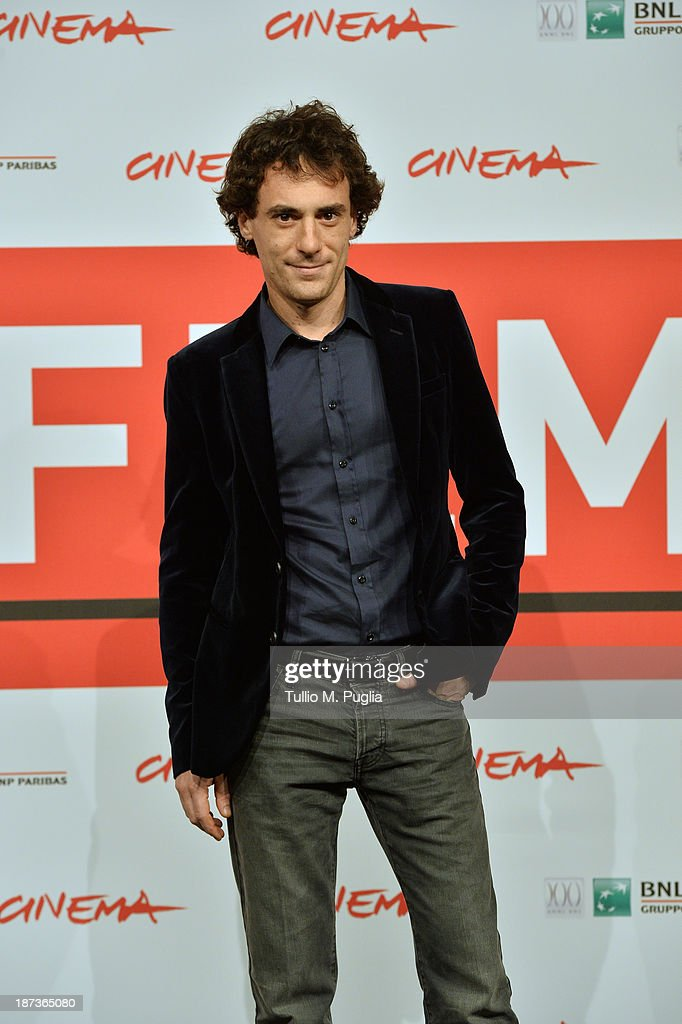 Elio Germano attends the 'L'Ultima Ruota Del Carro' Photocall during the 8th Rome Film Festival at the Auditorium Parco Della Musica on November 8, 2013 in Rome, Italy.